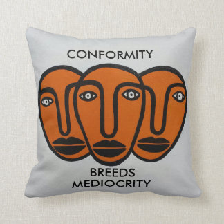 Conformity 2 throw pillow