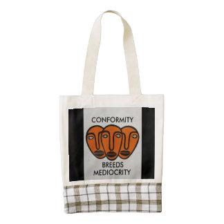 Conformity 2 zazzle HEART tote bag