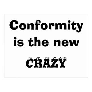 Conformity is... postcard