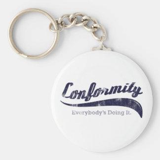 Conformity Keychain
