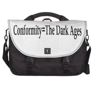 Conformity = The Dark Ages Laptop Computer Bag