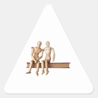 Confortar a un amigo pegatina triangular