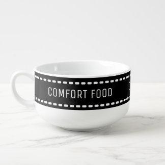 Conforte la comida, consiga acogedor, reloj del cuenco para sopa