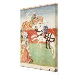Confrontación de dos caballeros ante el rey impresiones en lienzo estiradas