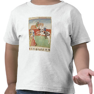 Confrontación de dos caballeros ante el rey camiseta