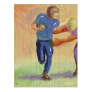 Confrontación del fútbol postales