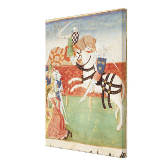 Confrontation of Two Knights before the King Canvas Print