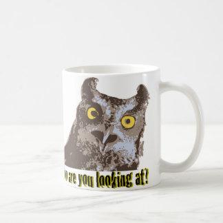 Confrontational Owl Coffee Mug