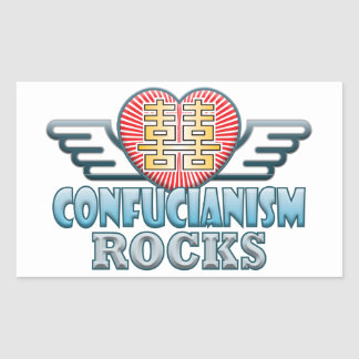 Confucianism Rocks Rectangular Sticker