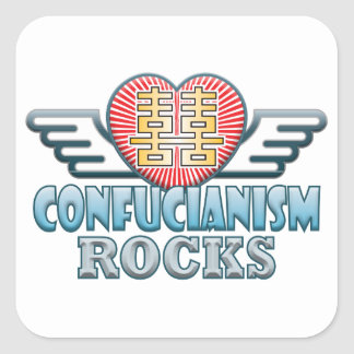 Confucianism Rocks Square Sticker