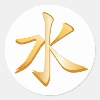 Confucianism Symbol Classic Round Sticker
