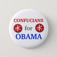 Confucians for Obama 2012 button
