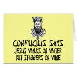 Confucio ateo felicitaciones