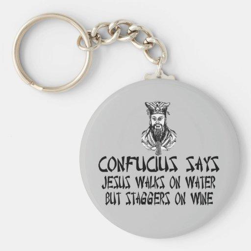 Confucio ateo llavero