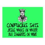 Confucio ateo postal