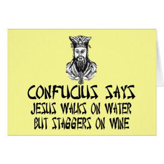 Confucio ateo tarjeta de felicitación