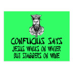 Confucio ateo tarjeta postal