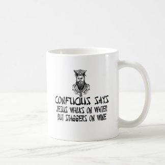 Confucio ateo taza