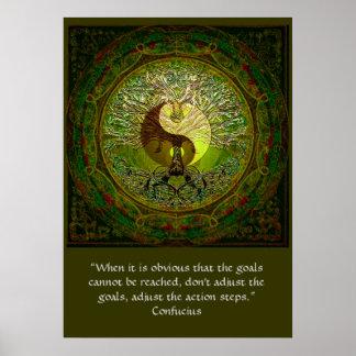 Confucio - cuando las metas no pueden ser alcanzad posters