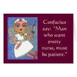 Confucio dice: Hombre que quiere a la enfermera bo