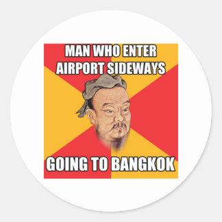 Confucio dice ir a Bangkok Pegatina Redonda