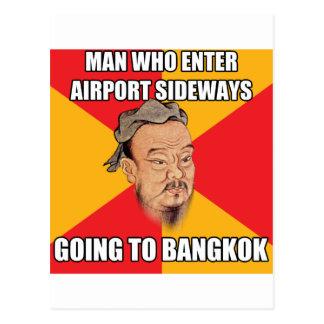Confucio dice ir a Bangkok Postal