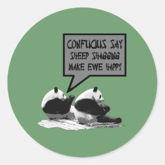 Confucio dice pegatinas