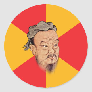 Confucio dice pegatina redonda