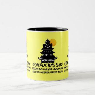 Confucio divertido taza