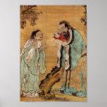 Confucio y Buda Poster