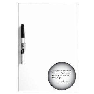 Confucious Quote Dry Erase Board