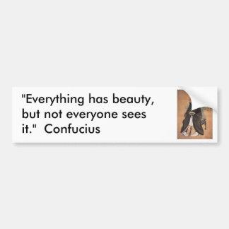 Confucius 1 bumper sticker