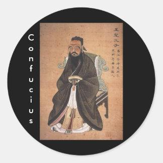 Confucius 1 classic round sticker