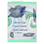 Confucius Blue Rose Card