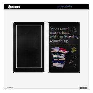 Confucius Cannot Open A Book Quote Kindle Fire Skin