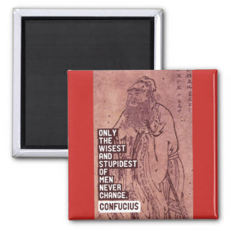 Confucius 'Change' quote magnet