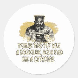 Confucius Didn't Say That! Classic Round Sticker