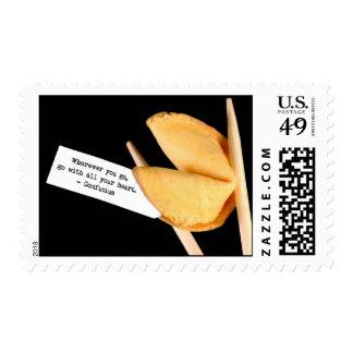 Confucius Fortune Cookie Postage Stamp