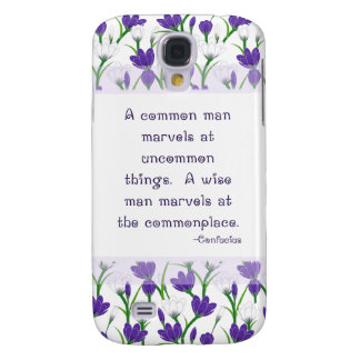 Confucius Inspiration Quote- Spring Crocus Flowers Samsung Galaxy S4 Case