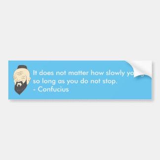 Confucius inspirational car sticker
