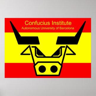 Confucius Institute in Barzelona Poster