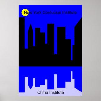 Confucius Institute in New York Poster