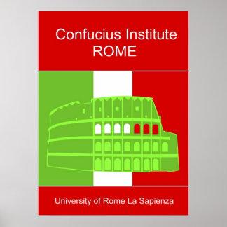 Confucius Institute in Rome Poster