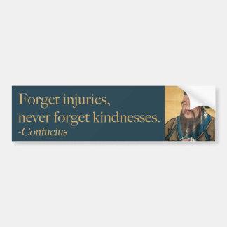 Confucius - Kindness Bumper Sticker