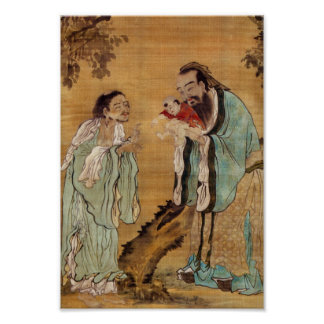 Confucius, Lao Tzu, and Buddha Posters