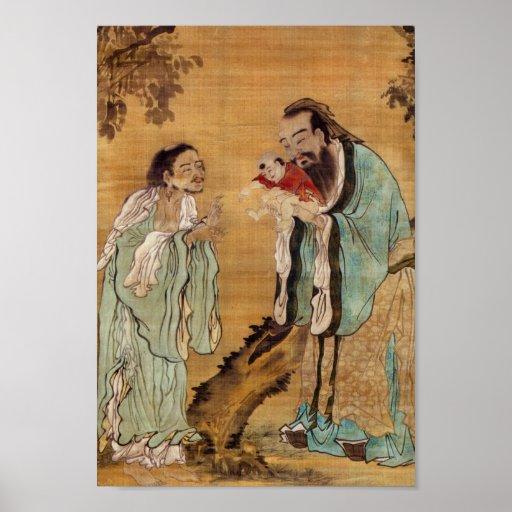 Confucius, Lao Tzu, and Buddha Posters