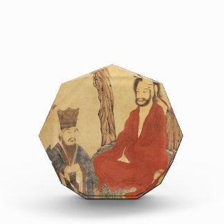 Confucius, Lao-tzu and Buddhist Arhat Acrylic Award