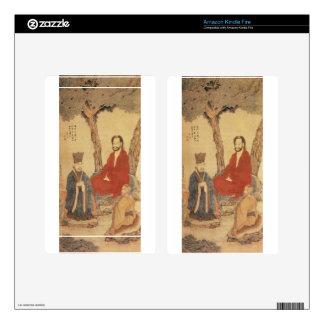 Confucius, Lao-tzu and Buddhist Arhat Kindle Fire Skin