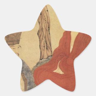 Confucius, Lao-tzu and Buddhist Arhat Star Sticker