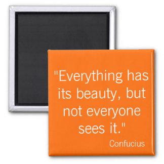Confucius 2 Inch Square Magnet